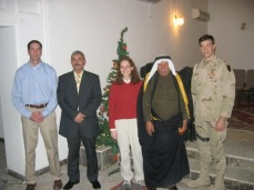 Christmas morning, 2004. General Abdullah, the deputy governor, and Sheik Naji, the Tribal Council leader, brought us the tree. They are both dead.